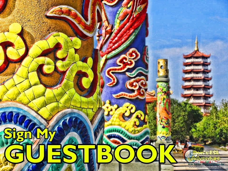 Kunshan Expats, Sign My Kunshan Guestbook | Don's ESL Adventure!